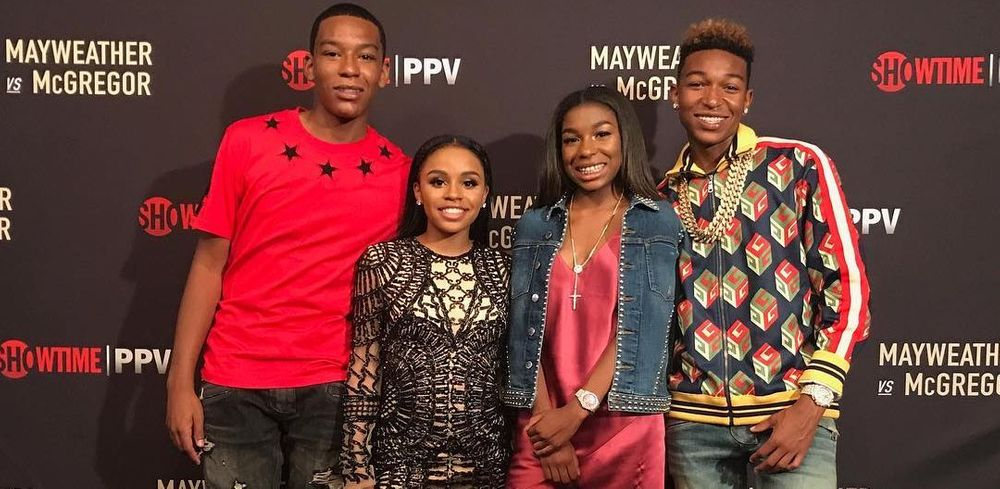 Zion, Iyanna, Jirah, and Koraun Mayweather