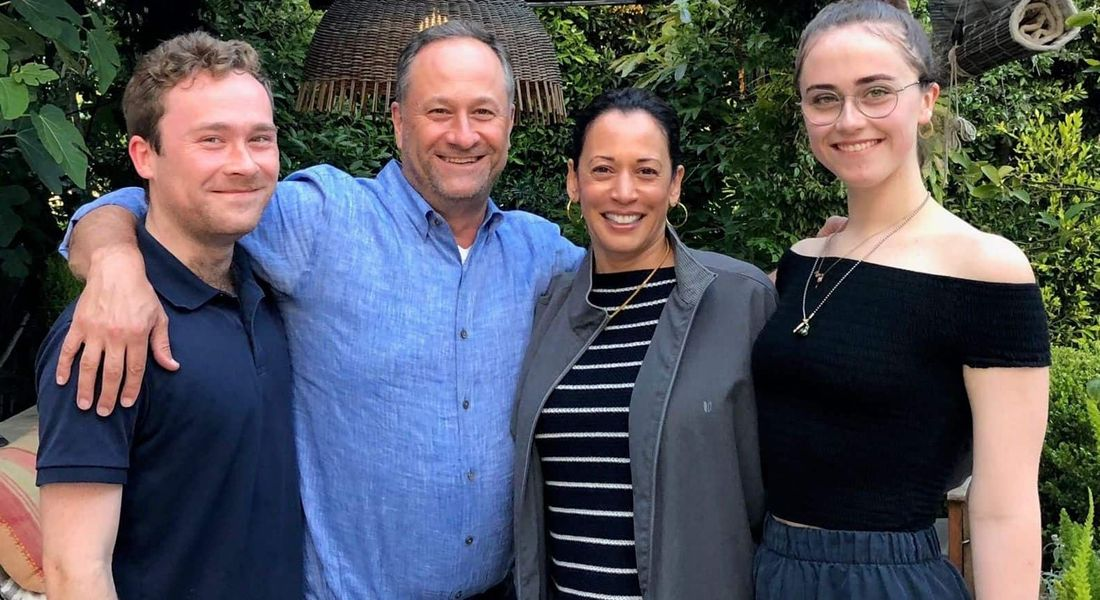 Cole, Douglas Emhoff, Kamala Harris and Ella