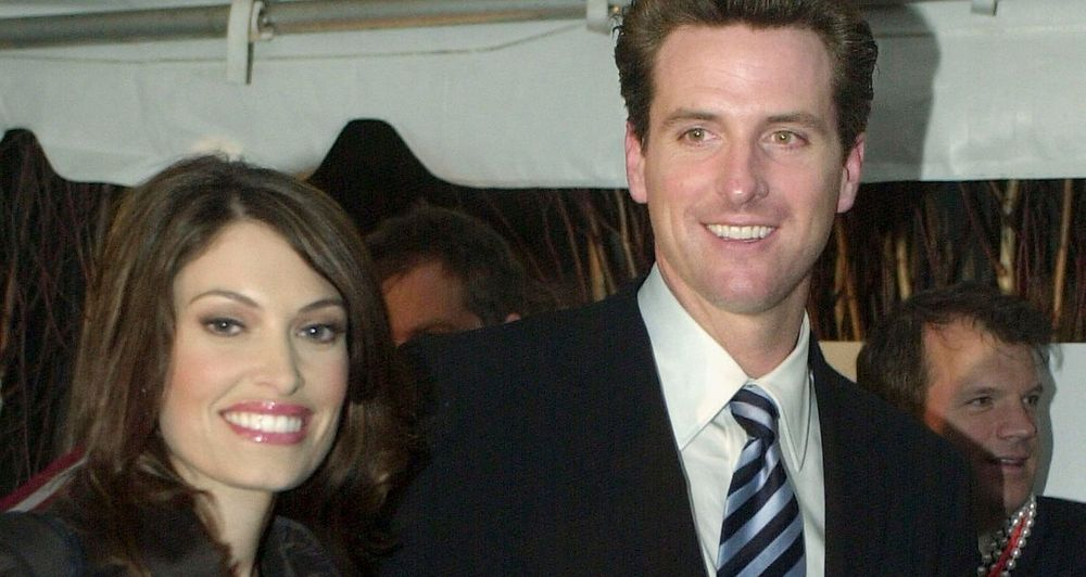 Kimberly Guilfoyle and Gavin Newsom