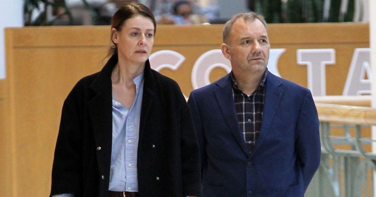 Lisa Matthews and Bob Mortimer