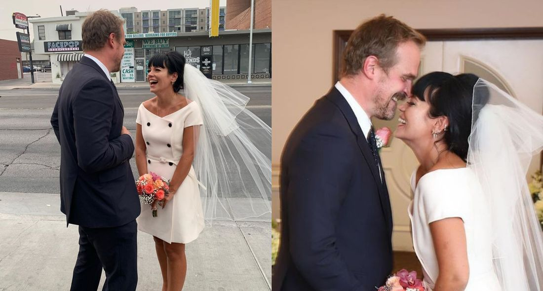David Harbour and Lily Allen wedding