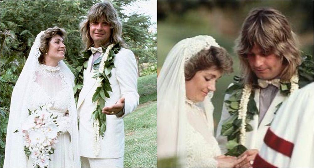 Ozzy Osbourne and Sharon Osbourne's wedding