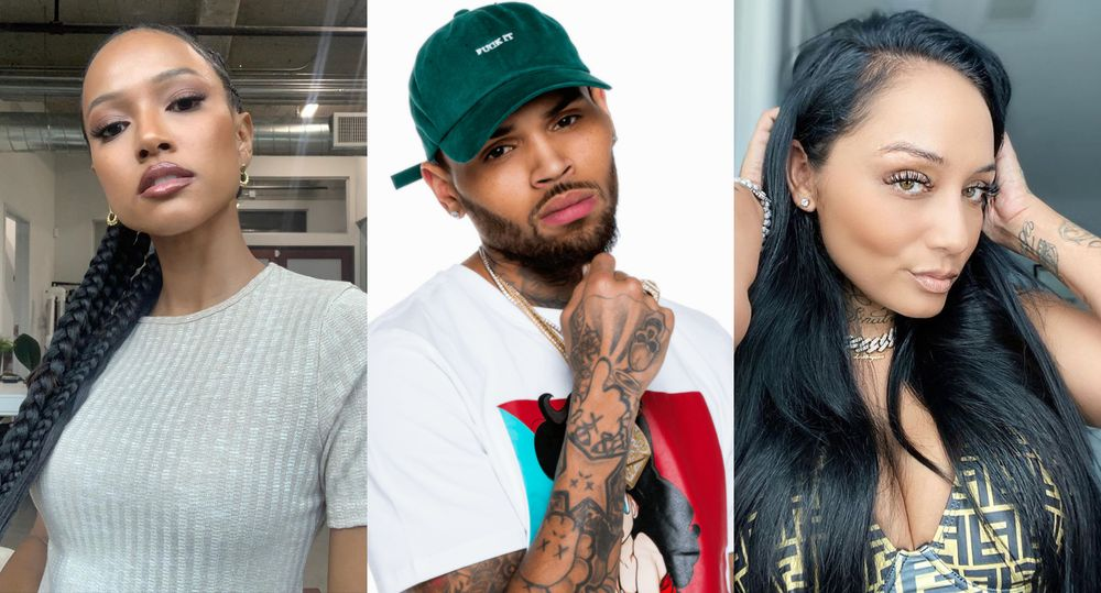 Karrueche Tran Chris Brown and Nia Guzman