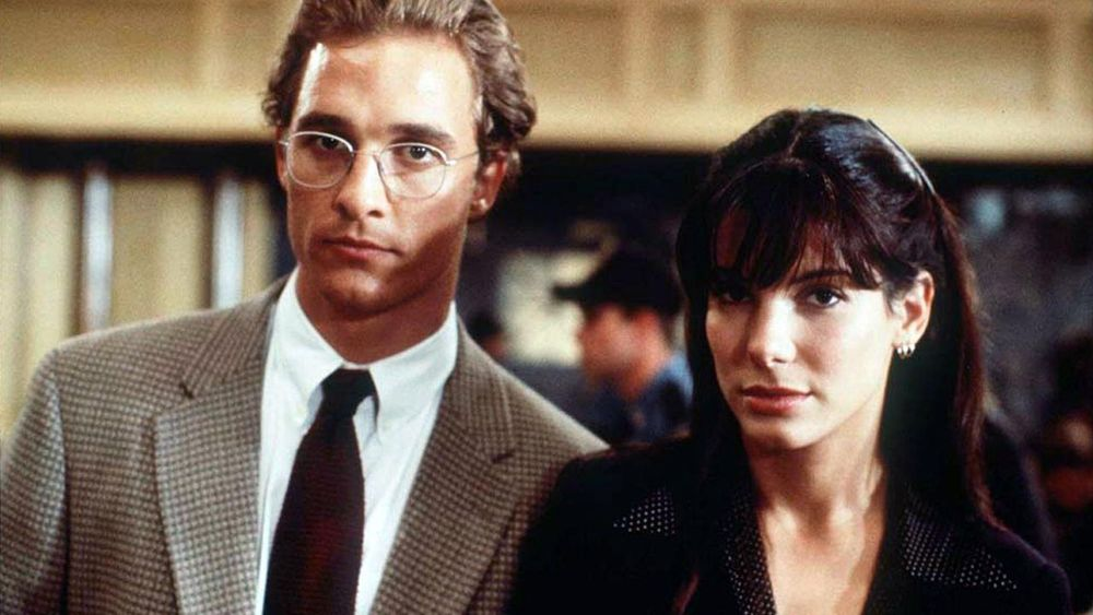 Matthew McConaughey and Sandra Bullock in A Time to Kill