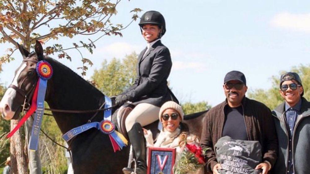 Lori Harvey as a professional equestrian