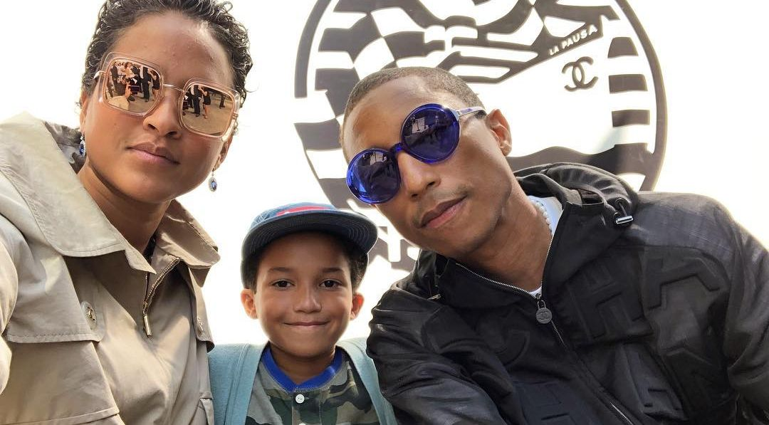 Pharrell Williams wife and son