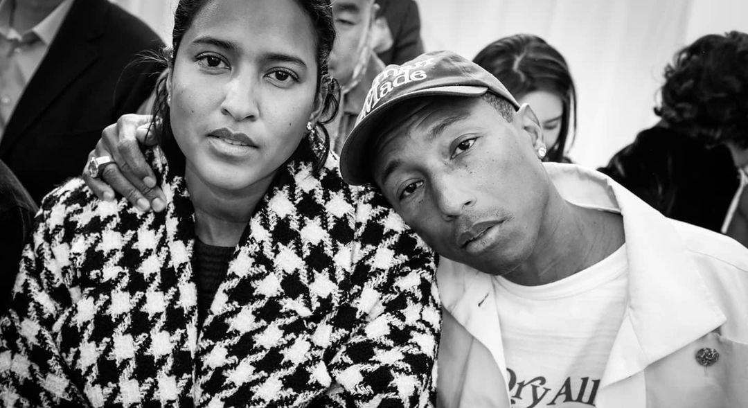 Helen Lasichanh and Pharrell Williams and