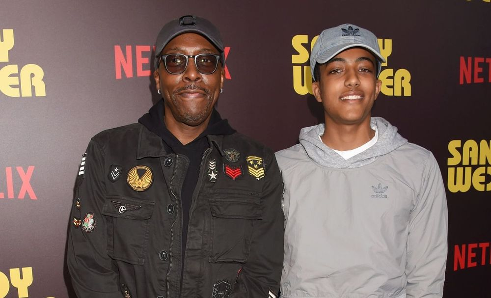 Arsenio Hall and his son