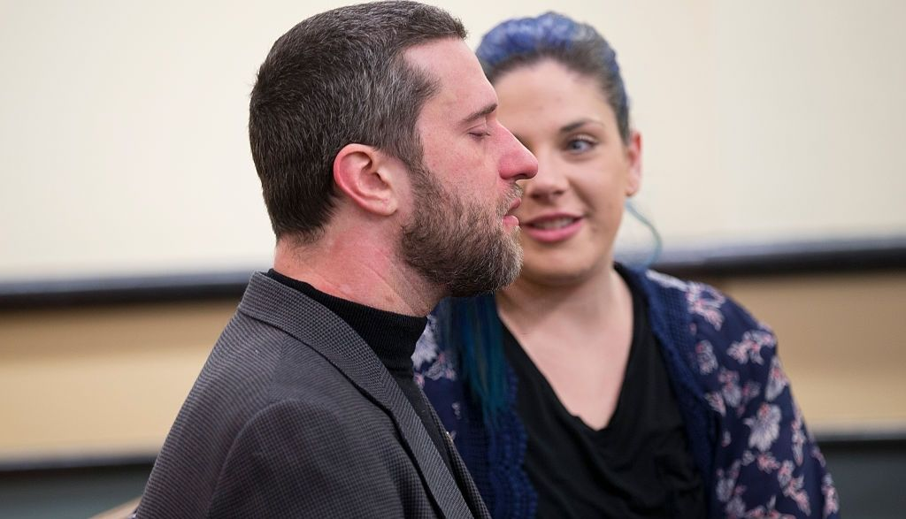 Dustin Diamond and Amanda Schutz