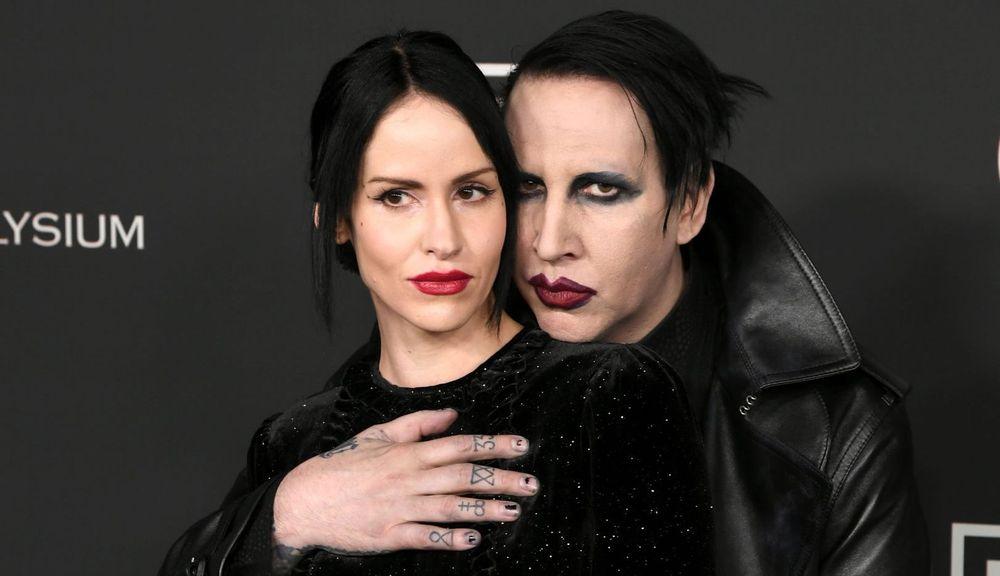 Lindsay Usich and Marilyn Manson