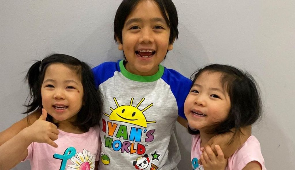 ryan kaji and twin sisters