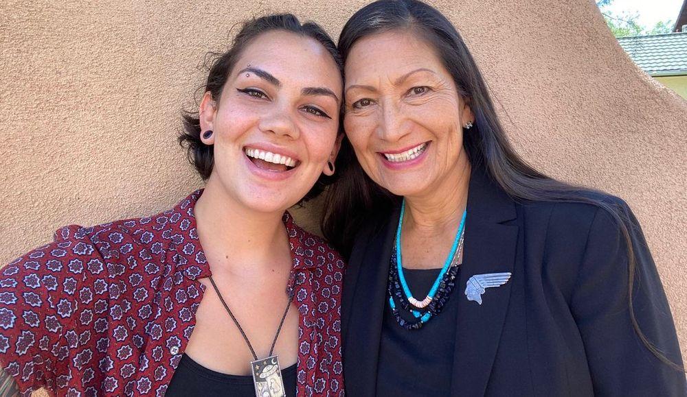 Deb Haaland and her daughter Somah Haaland