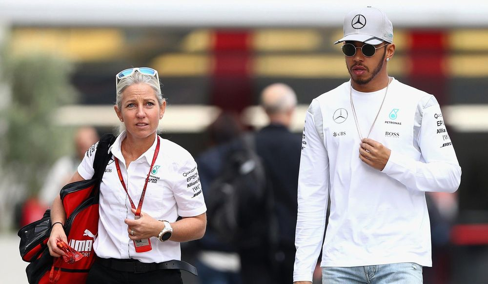 Angela Cullen And Lewis Hamilton