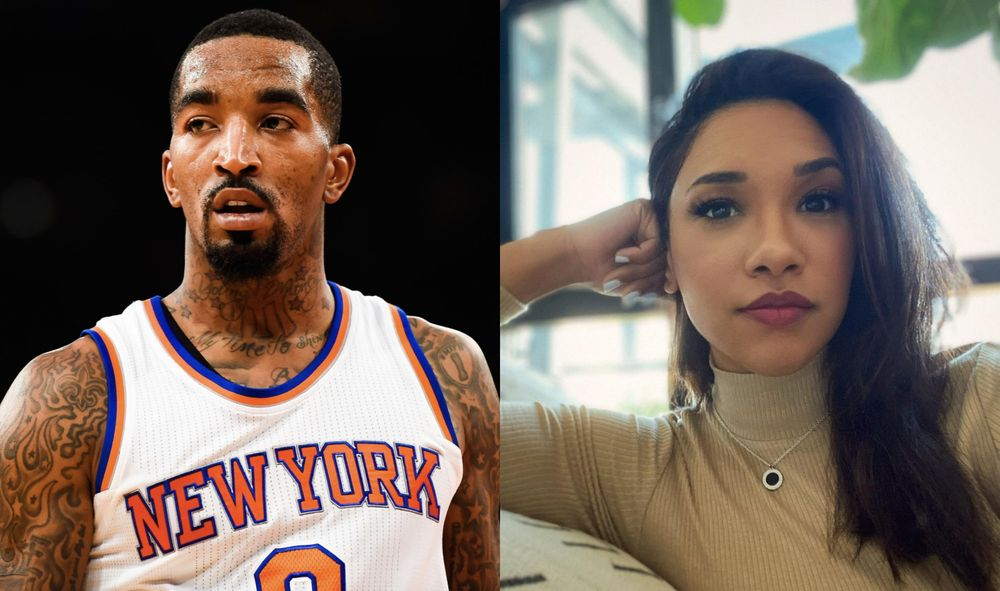 J.R. Smith and Candice Patton