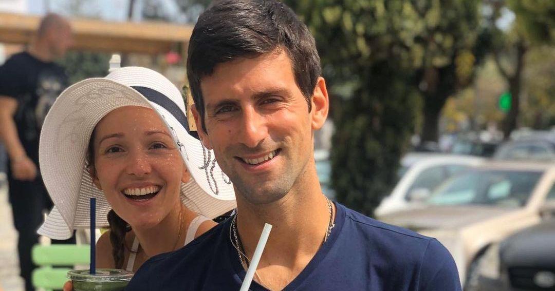 Novak and his wife Jelena