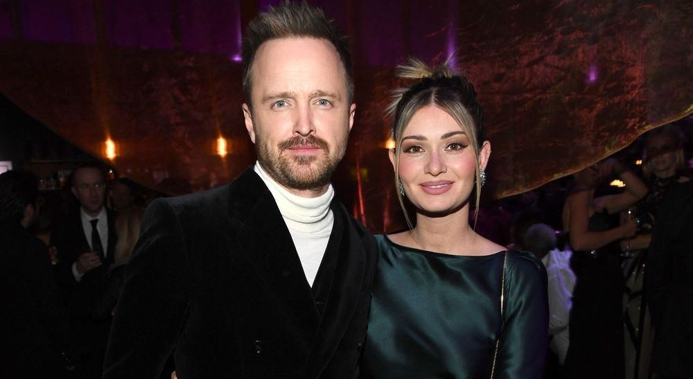 Aaron Paul And Lauren Paul
