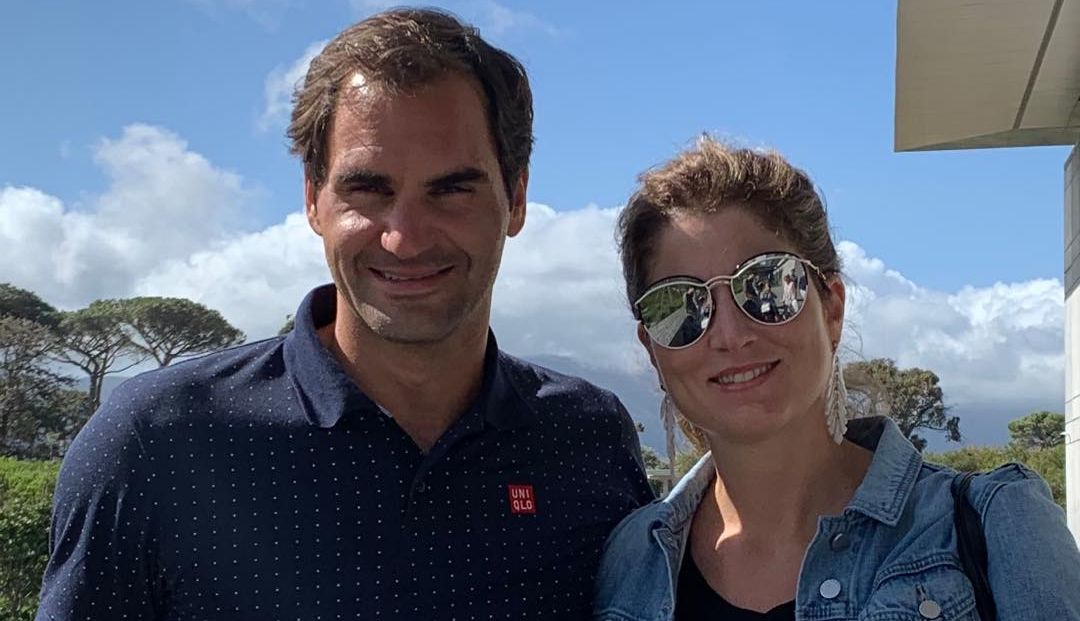 Roger Federer and his wife