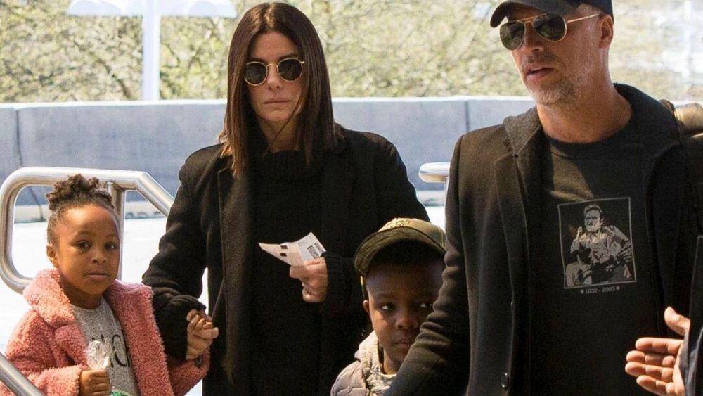 Sandra Bullock and her family