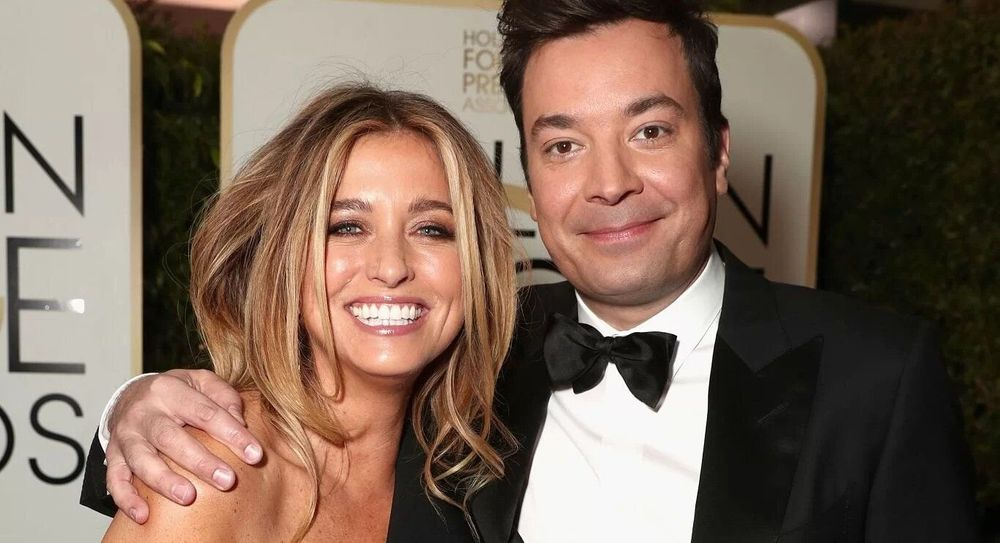 Jimmy Fallon and his wife