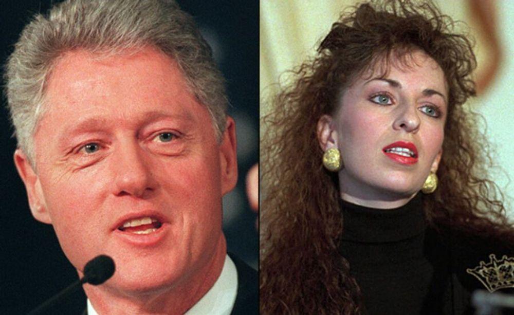 President Bill Clinton And Paula Jones